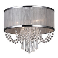 VALENZIA 4-LIGHT FLUSH MOUNT, Chrome, medium