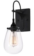 CHELSEA SCONCE, Satin Black, medium