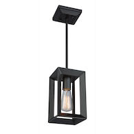 VINEYARD 1-LIGHT PENDANT, Matte Black, medium