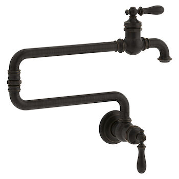 ARTIFACTS® SINGLE-HOLE WALL-MOUNT POT FILLER KITCHEN SINK FAUCET WITH 22-INCH EXTENDED SPOUT, Oil-Rubbed Bronze, large