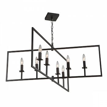 ALLSTON 35.5-INCH 8-LIGHT CHANDELIER, Oil Rubbed Bronze, large