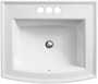 ARCHER® DROP IN BATHROOM SINK WITH 4-INCH CENTERSET FAUCET HOLES, White, small