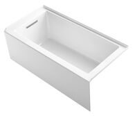 UNDERSCORE® 60 X 30 INCHES ALCOVE BATHTUB WITH INTEGRAL APRON AND INTEGRAL FLANGE AND LEFT-HAND DRAIN, White, medium