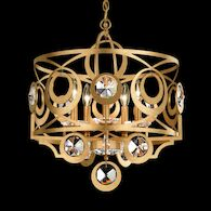 GWYNN 5-LIGHT CHANDELIER, White, medium