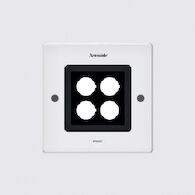 EGO 150 SQUARE ASYMETRICAL DOWNLIGHT CEILING RECESSED, White, medium