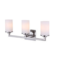 RIVER 23-INCH 3-LIGHT VANITY LIGHT, Brushed Nickel, medium