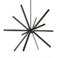 SIRIUS 48-INCH CHANDELIER, Black, medium