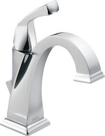 DRYDEN SINGLE HANDLE LAVATORY FAUCET, Chrome, medium