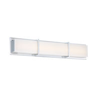 RATIO 30-INCH 3000K LED BATHROOM VANITY OR WALL LIGHT, Chrome, medium