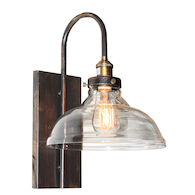 GREENWICH 1-LIGHT WALL SCONCE, Bronze and Copper, medium
