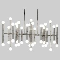 JONATHAN ADLER MEURICE CHANDELIER, Polished Nickel, medium
