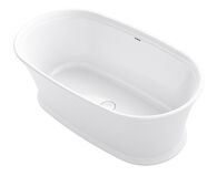 MEMOIRS® 66 X 36 INCHES FREESTANDING BATHTUB WITH CENTER TOE-TRAP DRAIN, White, medium