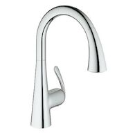LADYLUX CAFE PULL OUT KITCHEN FAUCET, StarLight Chrome, medium