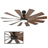 WINDFLOWER 60-INCH 3000K LED CEILING FAN, Oil Rubbed Bronze, medium