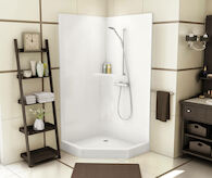 PROFESSIONAL SERIES CSS36 1-PIECE CORNER SHOWER, , medium