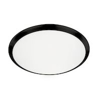 MALTA 15-INCH LED FLUSH MOUNT LIGHT, Black, medium