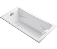 TEA-FOR-TWO® 72 X 36 INCHES DROP IN BATHTUB WITH REVERSIBLE DRAIN, White, medium