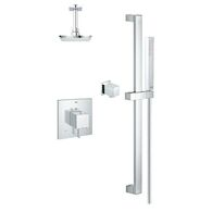 MODERN SQUARE THERMOSTATIC SHOWER KIT, StarLight Chrome, medium