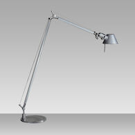TOLOMEO READING LED FLOOR LAMP, Aluminum, medium