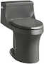 SAN SOUCI® COMFORT HEIGHT® ONE-PIECE COMPACT ELONGATED 1.28 GPF TOILET WITH AQUAPISTON® FLUSHING TECHNOLOGY, Thunder Grey, small