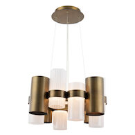 HARMONY LED CHANDELIER, Aged Brass, medium
