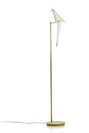 PERCH LIGHT FLOOR LAMP, Brass, medium