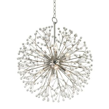 DUNKIRK 8-LIGHT CHANDELIER, 6020, Polished Nickel, large