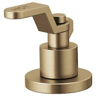 LITZE WIDESPREAD HANDLE KIT - INDUSTRIAL LEVER, Luxe Gold, medium
