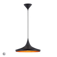 RAMOS 14-INCH ROUND PENDANT, 20439, Black, medium