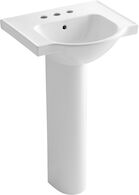 VEER™ 21-INCH PEDESTAL BATHROOM SINK WITH 4-INCH CENTERSET FAUCET HOLES, White, medium