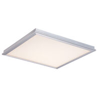 NEO LED FLUSH MOUNT, Brushed Aluminum, medium