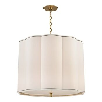 SWEENY 5-LIGHT CHANDELIER, 7925, Aged Brass, large