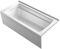 ARCHER® 66 X 32 INCHES THREE-SIDE INTEGRAL FLANGE BATHTUB, LEFT-HAND DRAIN, White, medium