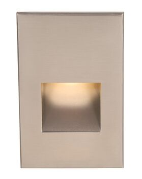 LEDme® VERTICAL STEP AND WALL LIGHT, Brushed Nickel, large
