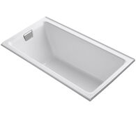 TEA-FOR-TWO® 66 X 36 INCHES ALCOVE BATHTUB WITH INTEGRAL FLANGE AND LEFT-HAND DRAIN, White, medium