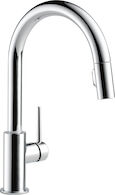 TRINSIC SINGLE HANDLE PULL DOWN KITCHEN FAUCET, Chrome, medium