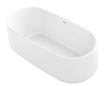 CERIC® 65 X 31 INCHES FREESTANDING BATHTUB WITH CENTER TOE-TAP DRAIN, White, large