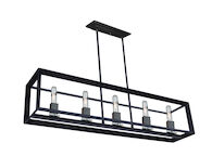 VINEYARD 5-LIGHT ISLAND LIGHT, Matte Black, medium