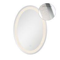 22X32-INCH OVAL MIRROR WITH 3000K LED LIGHT AND TOUCH SENSOR SWITCH, 33823, Silver, medium