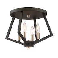 BREEZY POINT 4-LIGHT FLUSH MOUNT, Bronze, medium