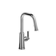TRATTORIA KITCHEN FAUCET WITH 2-JET BOOMERANG HAND SPRAY SYSTEM, Chrome, medium