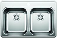 ESSENTIAL DOUBLE BOWL KITCHEN SINK, Stainless Steel, medium