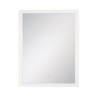 28X36-INCH RECTANGULAR EDGELIT MIRROR WITH 3000K LED LIGHT AND TOUCH SENSOR SWITCH, 33827, Silver, medium