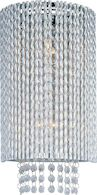 SPIRAL 2-LIGHT WALL SCONCE, Polished Chrome, medium