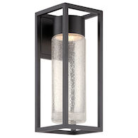 STRUCTURE LED OUTDOOR WALL LIGHT, Black, medium
