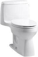 SANTA ROSA™ COMFORT HEIGHT® ONE-PIECE COMPACT ELONGATED 1.28 GPF TOILET WITH AQUAPISTON® FLUSH TECHNOLOGY AND RIGHT-HAND TRIP LEVER, White, medium