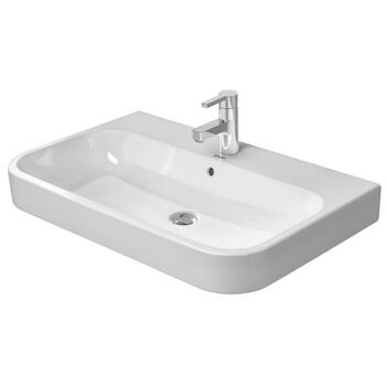 HAPPY D.2 39 3/8-INCH FURNITURE WASHBASIN, White, large
