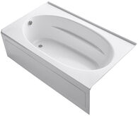 WINDWARD® 72 X 42 INCHES ALCOVE BATHTUB WITH INTEGRAL APRON AND LEFT-HAND DRAIN, White, medium