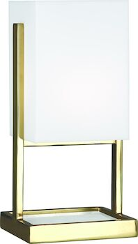 NIKOLE ACCENT LAMP, Modern Brass and White Marble, large