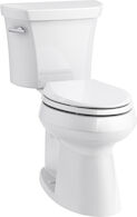 HIGHLINE® COMFORT HEIGHT® TWO-PIECE ELONGATED 1.28 GPF TOILET WITH CLASS FIVE® FLUSH TECHNOLOGY AND CONCEALED TRAPWAY, White, medium